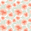 Floral seamless background gentle flower pattern nature pastel white texture with spring bouquets Royalty Free Stock Image