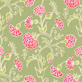 Floral seamless background hand drawn vector pattern Royalty Free Stock Photos