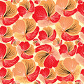 Floral seamless background red flower pattern bouquets wavy texture with flowers in s Royalty Free Stock Images