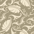 Floral seamless background vector with vintage elements Stock Images