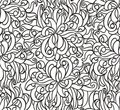 Floral seamless line vector wallpaper Royalty Free Stock Images