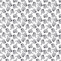 Floral seamless monochrome background Royalty Free Stock Photo