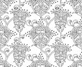 Floral seamless outline ornament