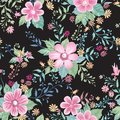 Floral seamless pattern. Abstract ornamental flowers. Flourish ditsy print