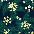 Floral seamless pattern. Background with isolated colorful hand Royalty Free Stock Photo