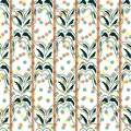 Floral seamless pattern background. Ornament of stylized leaves Royalty Free Stock Photo