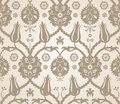 Floral seamless pattern background vector beige reflection Royalty Free Stock Image