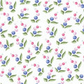 Floral seamless pattern beauty background with berry design Royalty Free Stock Images