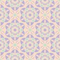 Floral seamless pattern. Beige background with violet and blue flower elements Royalty Free Stock Photo