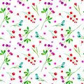 Floral seamless pattern of a berry.