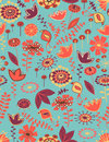 Floral seamless pattern with birds Royalty Free Stock Photo