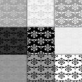 Floral seamless pattern. Black and white abstract backgrounds