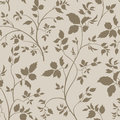 Floral seamless pattern. Branch with leaves ornamental background