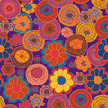 Floral seamless pattern with bright flowe Royalty Free Stock Photos