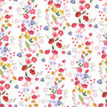 Floral seamless pattern with bright summer flowers.