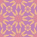 Floral seamless pattern. Bright violet background with colored design