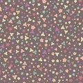 Floral seamless pattern with colorful flowers texture background Stock Photos