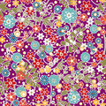 Floral seamless pattern with colorful flowers texture background Royalty Free Stock Photo