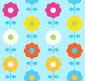 Floral seamless pattern colorful flowers vector Royalty Free Stock Photography