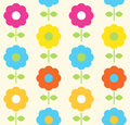 Floral seamless pattern with colorful flowers vector Stock Image