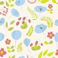 Floral seamless pattern cute vector illustration Royalty Free Stock Photos