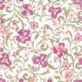 Floral seamless pattern. Flower background. Flourish ornament