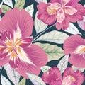 Floral seamless pattern. Flower background. Flourish nature garden