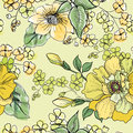 Floral seamless pattern. Flower background. Royalty Free Stock Photo