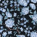 Floral seamless pattern. Flower rose black background. Flourish