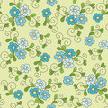Floral seamless pattern with forget me not this is file of eps format Royalty Free Stock Photography