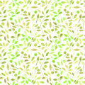 Floral seamless pattern with green branches and berries.