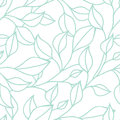 Floral seamless pattern with green leaf. Vector background Royalty Free Stock Photo