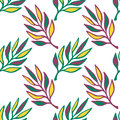 Floral seamless pattern.Hand drawn texture with leaf. Green leaves vector background seamless. Royalty Free Stock Photo
