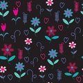 Floral seamless pattern with hearts and flowers seamless patte can be used for wallpapers tableware packaging posters other Stock Photo
