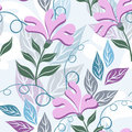 Floral seamless pattern imagination flowers vector colorful background ornamented with Royalty Free Stock Photography