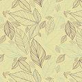 Floral seamless pattern with leaves Royalty Free Stock Images