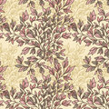 Floral seamless pattern with leaves Stock Image