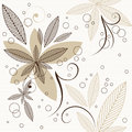 Floral seamless pattern leaves background Royalty Free Stock Image
