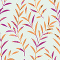 Floral seamless pattern. Leaves background. Nature ornament Royalty Free Stock Photo