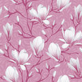Floral seamless pattern magnolia retro flower vector easy to edit Royalty Free Stock Photography