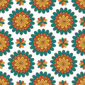 Floral seamless pattern. Modern vector background with flowers. Textile print or packaging design Royalty Free Stock Photo