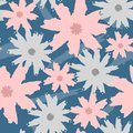 Floral seamless pattern painted by brush. Grunge, sketch, watercolor, graffiti. Royalty Free Stock Photo