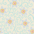 Floral seamless pattern in pastel colors Stock Photo