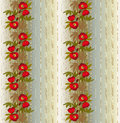 Floral seamless pattern with poppies on beige background Royalty Free Stock Image