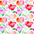 Floral seamless pattern with poppy flowers. Royalty Free Stock Photo