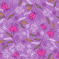 Floral seamless pattern in purple colors Royalty Free Stock Photo