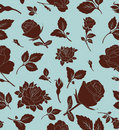 Floral seamless pattern with rose, wallpaper Royalty Free Stock Photo