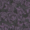 Floral seamless pattern with roses. Hand drawing. Vector pattern