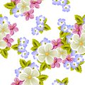 Floral seamless pattern of several flowers. For design of cards, invitations, greeting for birthday, wedding, party, holiday, cele