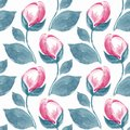 Floral seamless pattern with simple flowers 4